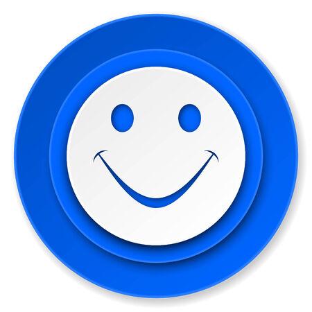 new yea: smile icon Stock Photo