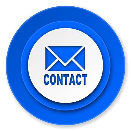 email contact: email icon, contact sign Stock Photo