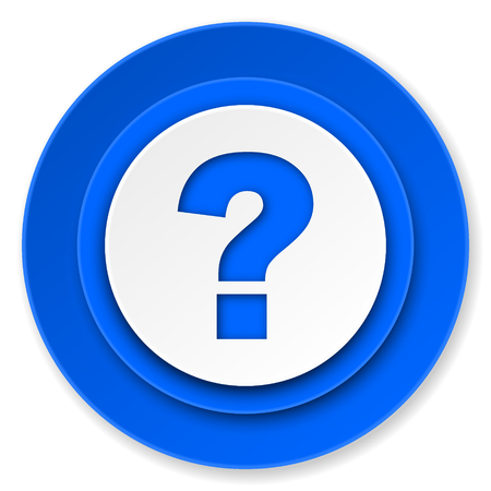question mark icon, ask sign photo