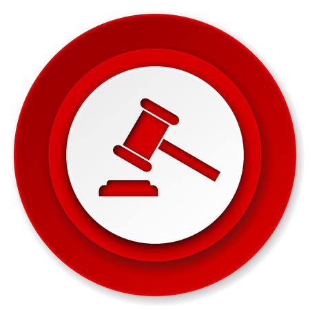 verdict: auction icon, court sign, verdict symbol