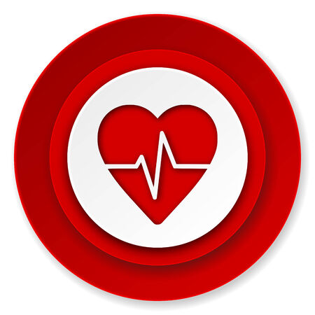 pulse icon, heart rate sign photo