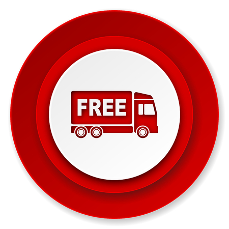 free delivery icon, transport sign photo
