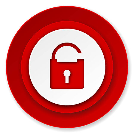 secure: padlock icon, secure sign Stock Photo