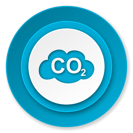 carbon dioxide icon, co2 sign photo