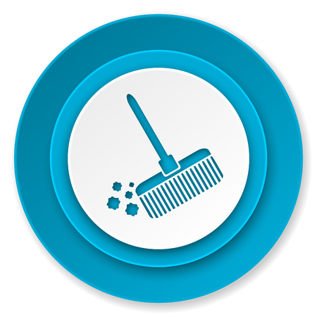 broom icon, clean sign photo