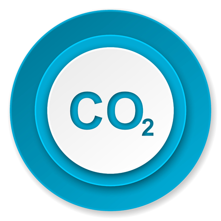 dioxide: carbon dioxide icon, co2 sign Stock Photo