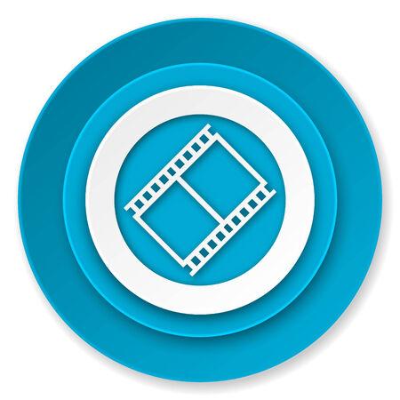 movie sign: icono de la pel�cula, muestra de cine, s�mbolo del cine Foto de archivo