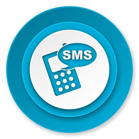 sms icon, phone sign photo