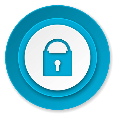 padlock icon, secure sign photo