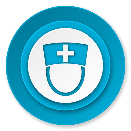 hospital sign: nurse icon, hospital sign