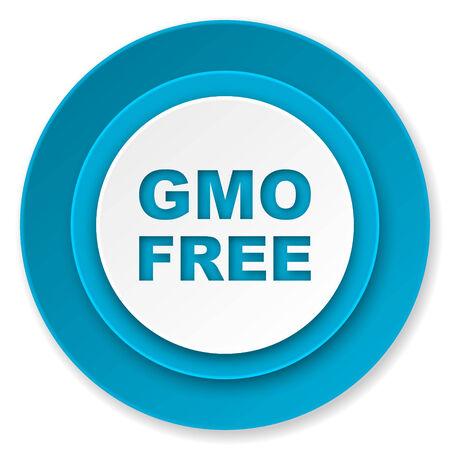 gmo free icon, no gmo sign photo
