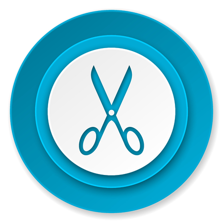 scissors icon, cut sign photo