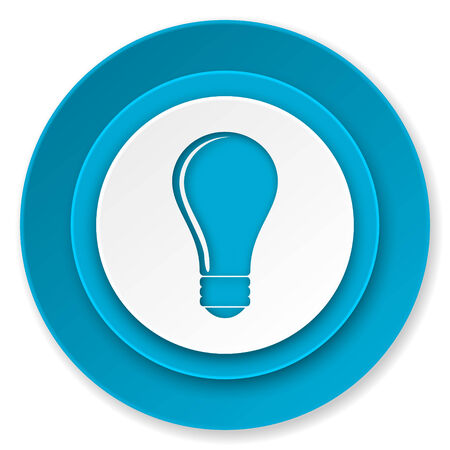 bulb icon: bulb icon, idea sign Stock Photo