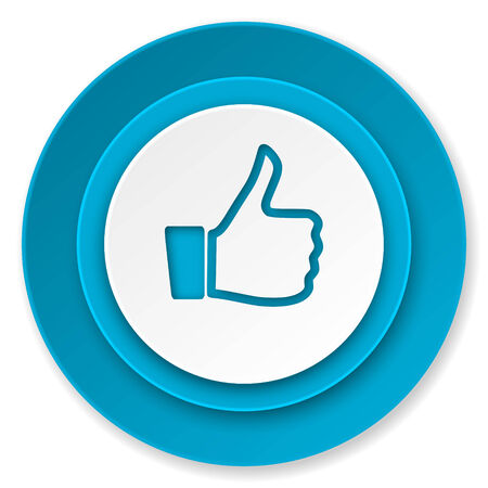 like icon: like icon, thumb up sign Stock Photo