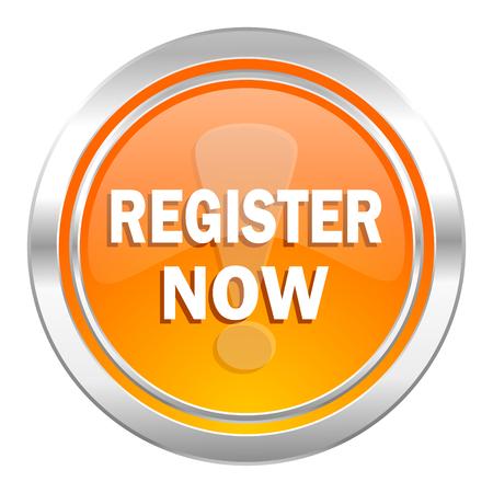 register now icon Stock Photo