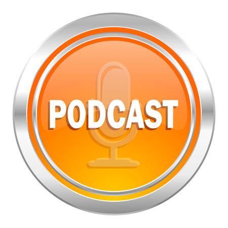 podcast: podcast icon Stock Photo