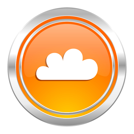cloud icon, waether forecast sign Stock Photo
