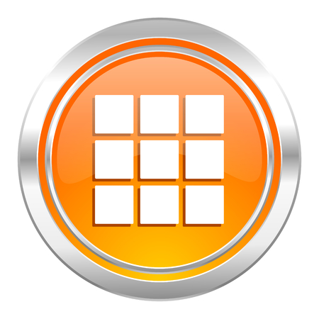 thumbnails: thumbnails grid icon, gallery sign Stock Photo