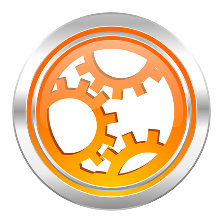 gear icon, settings sign Stock Photo