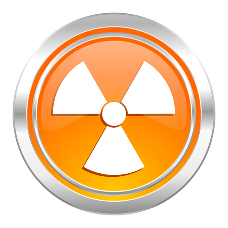 radiation icon, atom sign photo