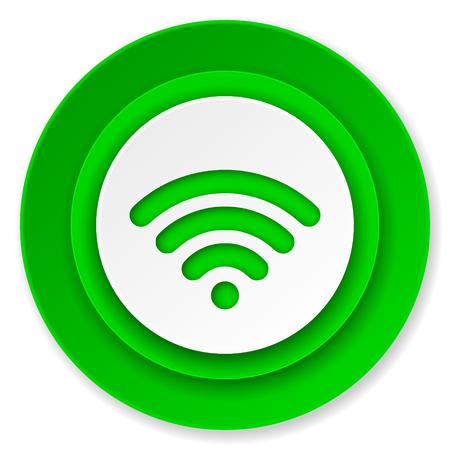 wireless hot spot: wireless network icon, wireless network sign Stock Photo