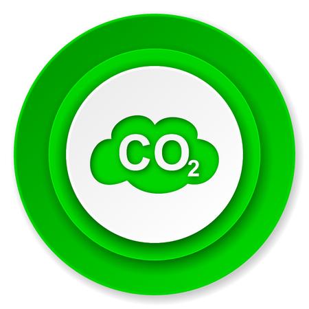 co2: carbon dioxide icon, co2 sign Stock Photo