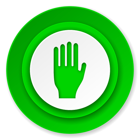 stop icon: stop icon, hand sign Stock Photo