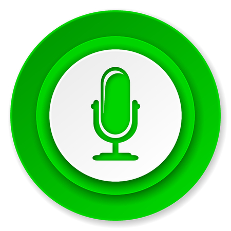 podcast: microphone icon, podcast sign