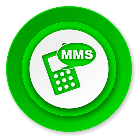 mms: mms icon, phone sign Stock Photo