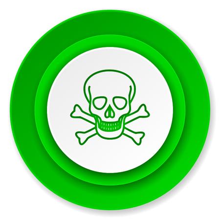 pirating: skull icon, death sign Stock Photo