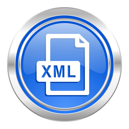 xml: xml file icon, blue button