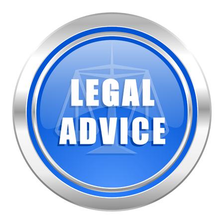 asesoria legal: icono de asesoramiento jur�dico, bot�n azul, signo de la ley