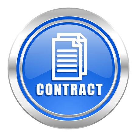 contract icon, blue button photo