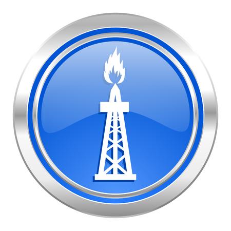 gas icon: gas icon, blue button, oil sign