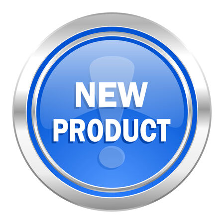 product icon: new product icon, blue button