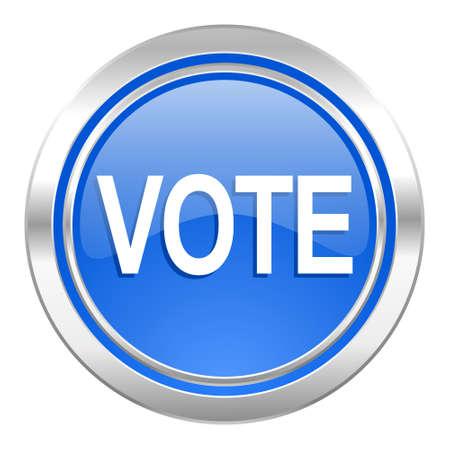 vote icon: vote icon, blue button