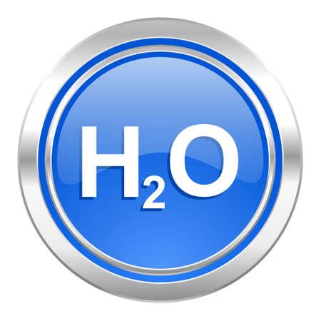 h2o: water icon, blue button, h2o sign