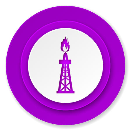 gas icon: gas icon, violet button, oil sign
