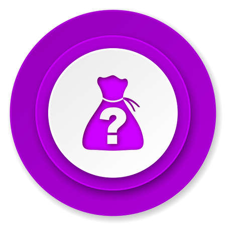 riddle: riddle icon, violet button