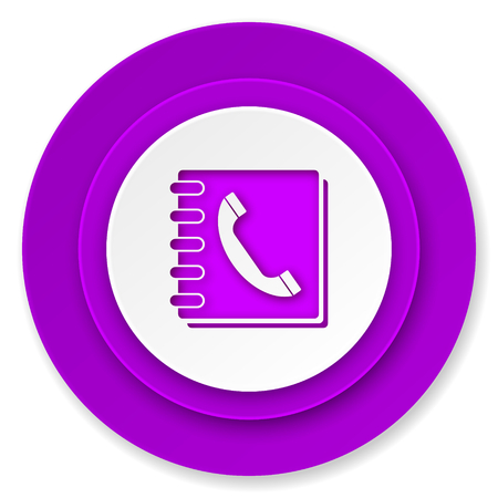 phonebook: phonebook icon, violet button