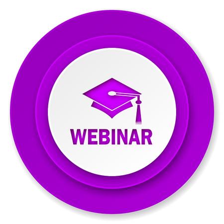 webinar: webinar icon, violet button