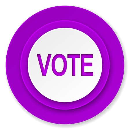 vote icon: vote icon, violet button