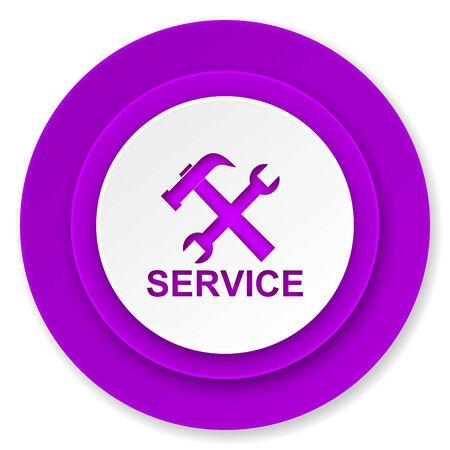 service icon, violet button photo