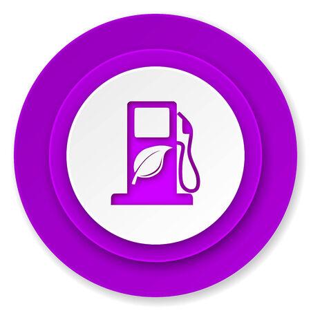 canola: biofuel icon, violet button, bio fuel sign Stock Photo