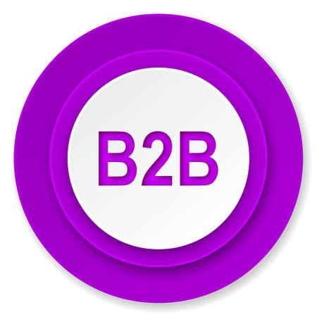 b2b: icono b2b bot�n, violeta