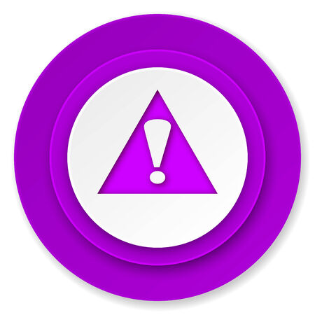 exclamation sign: exclamation sign icon, violet button, warning sign, alert symbol