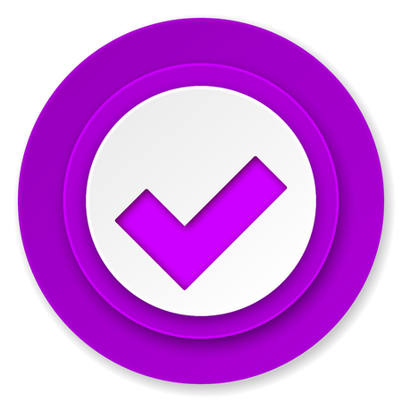 accept icon: accept icon, violet button, check sign