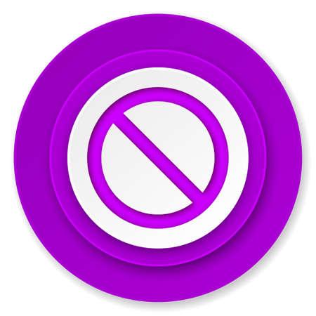 access denied icon: access denied icon, violet button