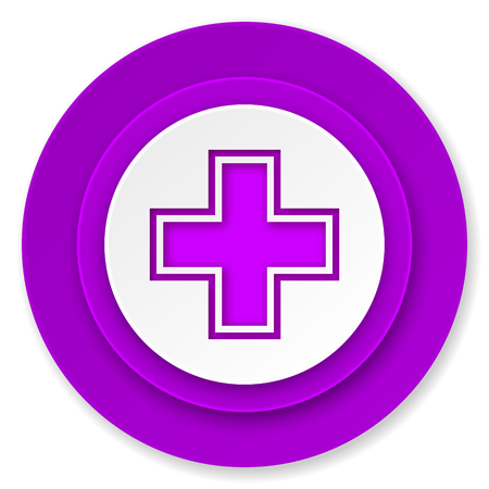 pharmacy icon: Apotheke Symbol, violett-Taste