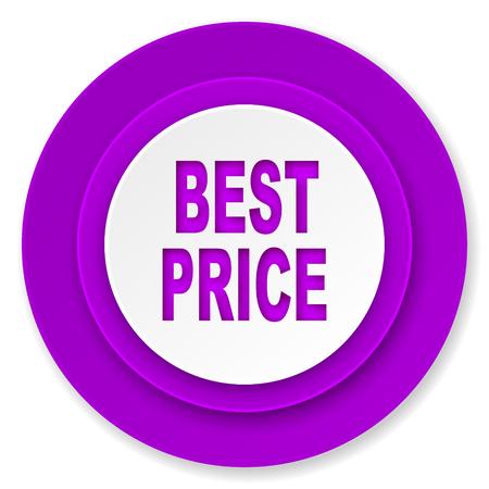 best price icon: best price icon, violet button